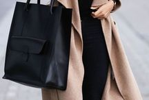 Camel Coat & Black