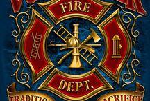 Strażackie emblematy