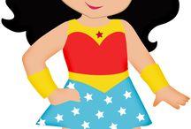 Super héroes kawaii