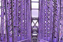Purple bridge photo shoot