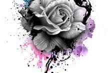 Rose tatuaggio