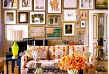 Interior Color | Displaying Art & Pics / by Kate | Sensational Color