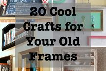 DIY Frame Crafts / She Bought A Frame At The Dollar Store; What She Did With It Is Inspired.
