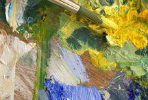 Color mixing palette