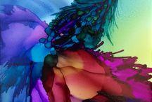 art avec encre, aquarelle