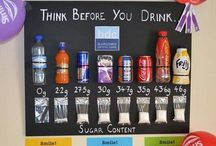 SUGAR IN DRINKS / Amounts of sugar in all types of drinks.