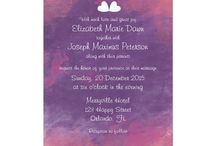 Watercolor Nebula Wedding Theme / Love watercolor? Nebula, stars and constellations? Or just simply digging the soft combination of hot pink and lavender shades? Look no further, the wedding theme will surely help your guests soaring to the dreamy sky.
