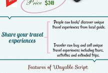 Vayable Clone Script - Unique Travel Experience / Wayable is an online marketplace script where traveler can buy and sell unique travel experiences including tours, activities and extended trips. The Wayable Script will have all of bookings, cancellations, reviews and rating, safe payments, and customer service