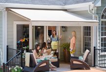 Solair Retractable Awnings / A Solair awning will transform your overheated deck or patio into the outdoor space you've always wanted. One that's cool, elegant and shaded by beautiful fabric. A perfect atmosphere for entertaining, spending time with family or just chilling out. Hundreds of fabrics are available to match any style and best of all they're all Sunbrella fabrics. / by Best in Backyards