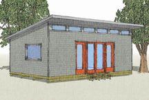 Garage Art Studio / Inspiration for a garage printmaking and art studio.