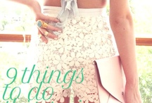 seasons & things to do / by Eden Brierly