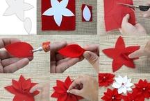 stella di Natale feltro tagliata a mano