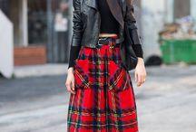 Tartan Skirts / Tartan Plaid Buckle
