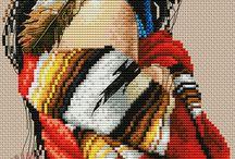 Cross stitch oriental