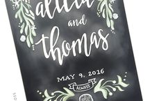 Chalk Art & Hand Lettering / Chalk art signs and hand lettering for weddings and bridal events
