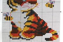 Tygři - vyšívání