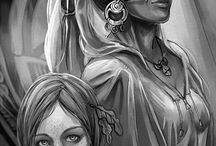 Crone Tattoos - Back / Ideas for addition to back tattoo  incorporating mother maiden crone, Yggdrasil.