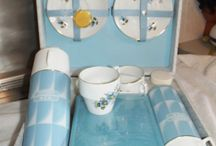 Blue Picnic / Lots of blue picnic jugs, thermos's and coolers. / by Karen Fitz