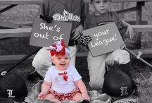 Baby girl baseball onesie