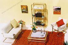 Modern miniature furniture / These Modern dollhouse miniature furniture were drawn and manufactured by Mari Speridião
