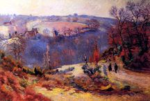 ARMAND GUILLAUMIN / JEAN-BAPTISTE ARMAND GUILLAUMIN (16 February 1841 – 26 June 1927) was a French impressionist painter and lithographer. The longest living among the Impressionists, most loyal to the movement and at the same time the least known. He is best remembered for his landscapes of Paris, the Creuse département, and the area around Les Adrets-de-l'Estérel. Guillamin was called the leader of the École de Crozant, a diverse group of painters who came to depict the landscape in the region of the Creuse.