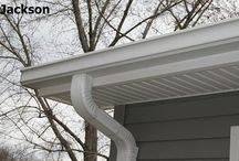 Gutter Leader / The opening of the gutter connection should be funnel-shaped and provided with a wire basket as a protection against the entrance of leaves, twigs, etc., ...