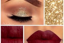 Christmas makeup and nails ideas