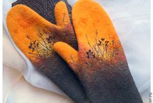 felted mittens, handwarmers