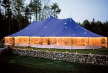 Summer Tent Inspirations / Having an outdoor event can be tricky.  Using a tent is always a great idea - it brings a visual interest and design element to the event and allows the show to go on regardless of the weather.  Here are some of our favorite tents!