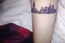 Tatouage Skyline