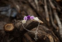 Lilac Flower Crown Headband, Newborn Baby Headband, Baby Flower Crown Headband, Photo Prop