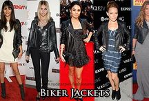 Celebrities with leather jacket