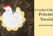 Maniques - Potholders - Crochet