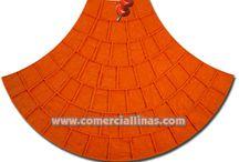 Moldes para aplicar hormigón impreso / Distintos moldes para la aplicación del hormigón impreso.