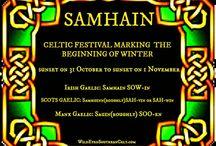 Samhain-Halloween- Celtic New Year- Fall Harvest-Celtic Fire Festival