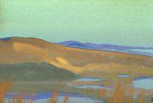 Nicholas Roerich / Nikolai Konstantinovich Roerich, Nicholas Roerich, na grafia inglesa, foi um pintor, escritor, historiador, poeta e professor espiritual russo. (9 de outubro de 1874, São Petersburgo, Rússia - 13 de dezembro de 1947, Naggar, Índia)