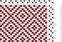 Схемы-Узоры для ситцевого плетения
