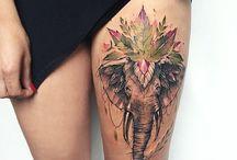 drawing e tattoo elefantes