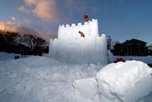 Dartmouth Winter Carnival snow sculptures