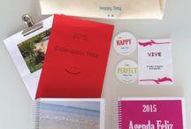Happy KIt / 1-Agenda Happy 1-Conjunto de 30 Cartas Happy 1-Calendário Anual Happy 1-Happy Bag 6-Happy Cookies (Imans)   Made with LOVE by Emotional Coaching