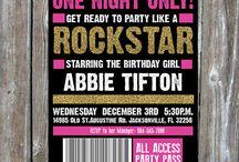 Rock Star Birthday / 7th birthday