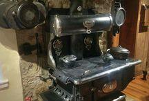 Antique kitchen stoves
