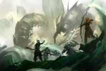 Fantasy Arts / Arts, concept arts in fantasy settings.