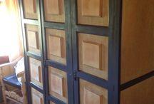 Restaurar un armario rustico