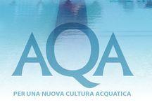 Aqa - Per una nuova cultura acquatica / AQA è una nuova proposta editoriale dedicata alla conoscenza delle attività che ruotano intorno all'acqua e alle piscine e all'analisi tecnica degli sport acquatici.