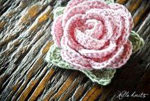 fiori maglia e uncinetto