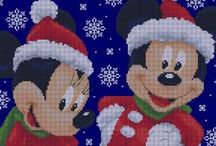 Mickey Mouse kerst patroon