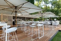 outdoor spaces / We create temporary outdoor interiors by using selected design pieces of our stock.    event design, event interior  created by berlin based design agency