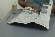 jarron en cesteria en papel