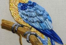 Kurdele nakışı kuşlar